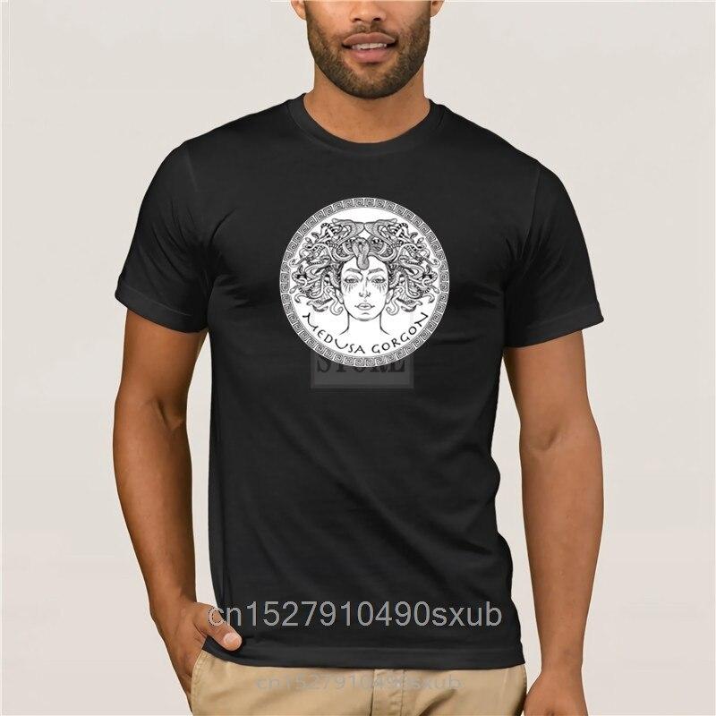 Nouveau été coton drôle t-shirts manches courtes t-shirt médusa Gorgon antique grec mythologique créature