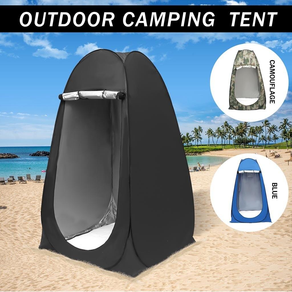 Pop-up camuflaje al aire libre tienda de ducha de Camping baño Simple móvil inodoro vestidor tienda refugio solo tiendas plegables móviles