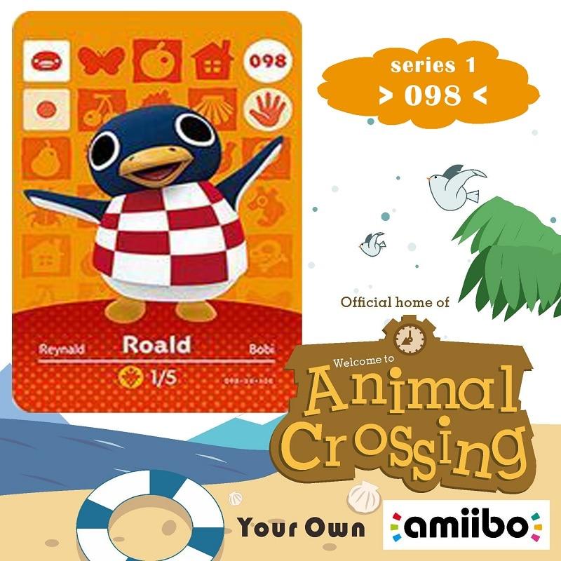 098 Animal Crossing Amiibo Card Roald Amiibo Card Animal Crossing Series 1 Roald Nfc Card Work for Ns Games Fast Shipping