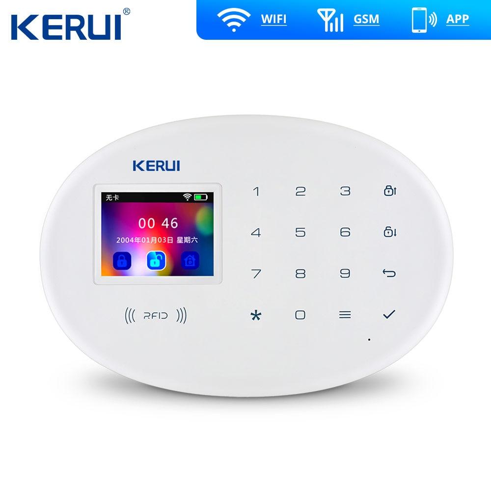 KERUI W20 Wireless WiFi GSM Security System 3MP Outdoor Cam Burglar Alarm Kit APP RFID Card 3MP Outdoor Wifi Camera Strobe Siren enlarge