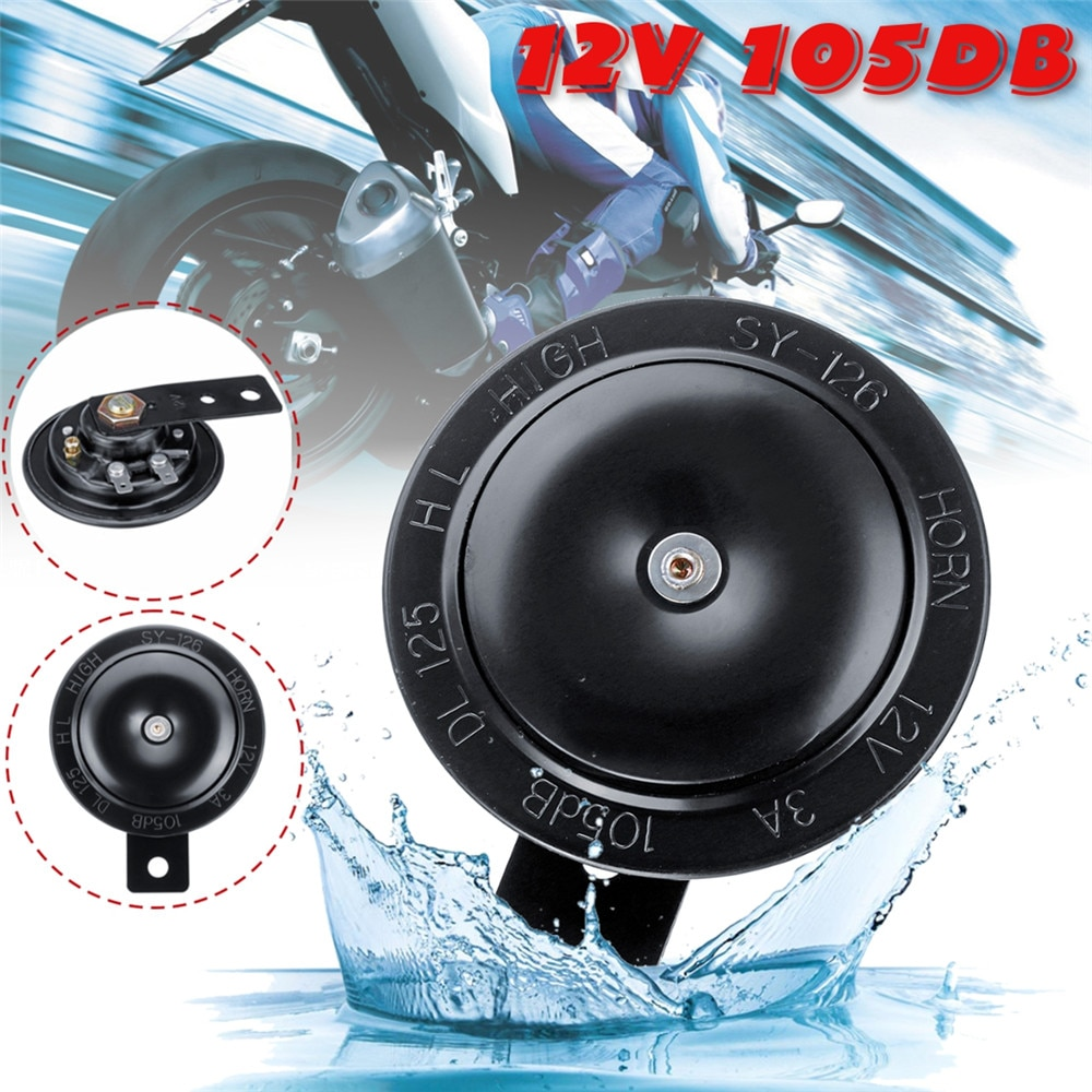 Aço inoxidável, 12 v 105db, buzinas da motocicleta, tom do alto-falante para o carro, bicicleta, atv, acessórios de trompete