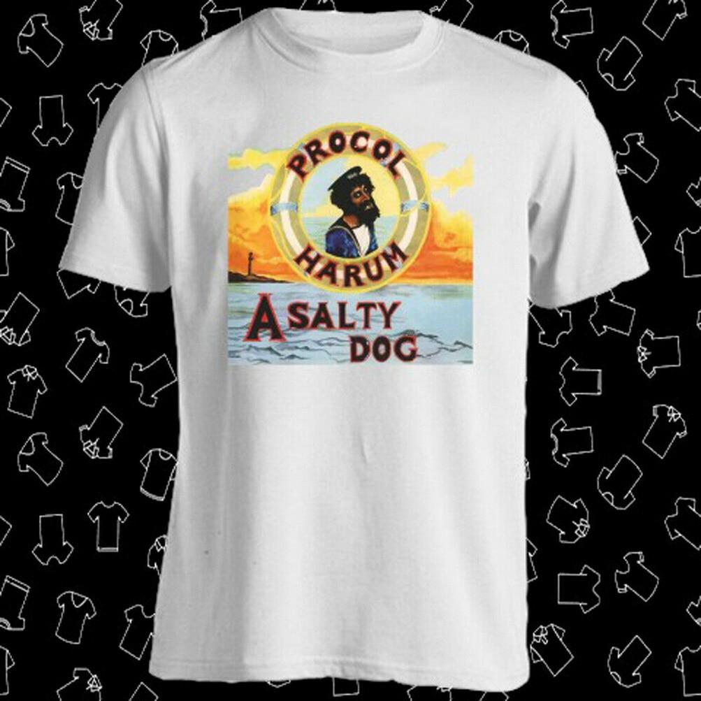 PROCOL HARUM Band A salado Dog Album Cover camiseta blanca para hombre talla S A 3XL Camiseta clásica de moda