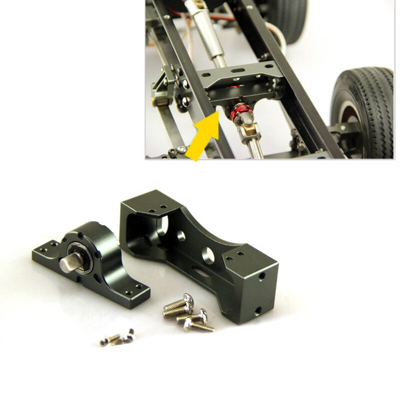 1PC 1/14 Trailer Beam Modified Metal Beam Bumper/Crossed Bridge Axle Bridge for 1:14 Tamiya Tractor RC Car Parts