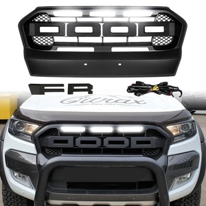 Modified For Ranger T7 Front Grill For Ranger T7 2015 2016 2017 Front Racing Grills Abs Cover Front Bumper Mesh Cover Grills