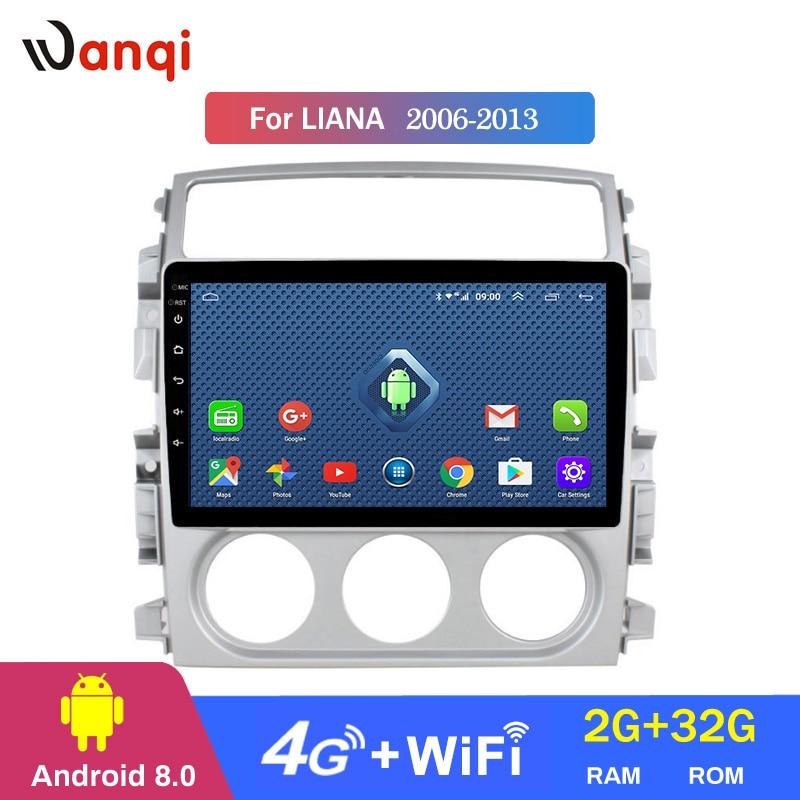 4G Lte todos Netcom de 9 pulgadas Android 8,0 coche Dvd Gps Player Para Suzuki LIANA 2006-2013 construido-en la Radio de navegación Bt Wifi