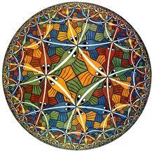 M.C. Escher cercle limite Art impression affiche peintures à lhuile toile pour la décoration murale Art mural