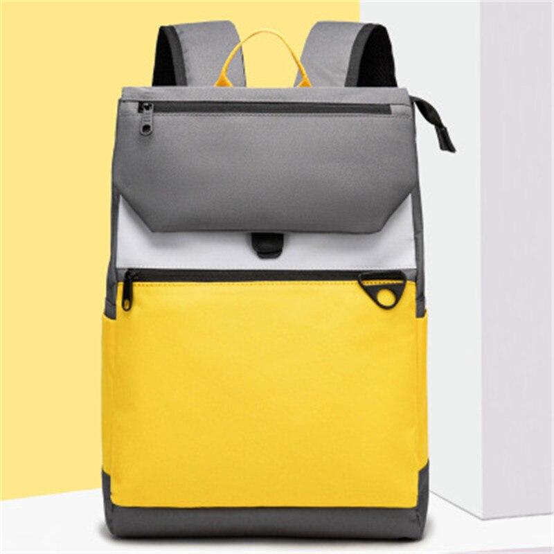 حقيبة ظهر نسائية 2021 موضة كورية جديدة حقيبة مدرسية مقاومة للاهتراء حقيبة ظهر بسعة كبيرة 15.6 بوصة حقيبة حاسوب