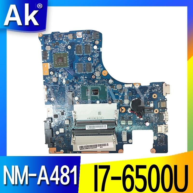 Placa base de ordenador portátil NM-A481 para For Lenovo Ideapad 300-15ISK placa base original I7-6500U con tarjeta de video