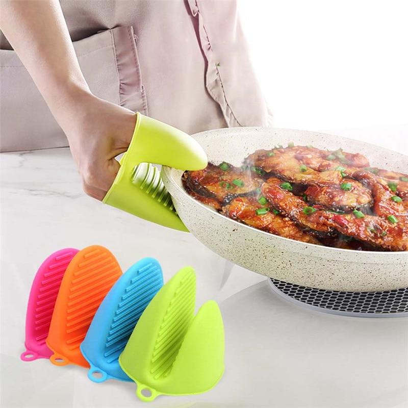 5 цветов на выбор силиконовая Изолированная термопластина зажим анти-ожоги утолщенные перчатки для микроволновой печи рукавицы для выпечк...
