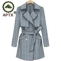 new fashion windbreaker with belt for women aptx ankara pure cotton coats with lining private custom ts1824017