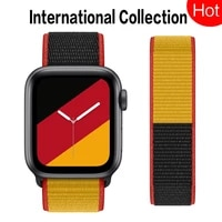 nylon loop strap for apple watch 6 se 5 4 3 iwatch band 42mm 38mm replacement belt correa bracelet apple watch band 44mm 40mm
