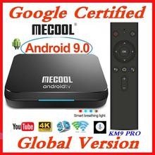 Google certifié MECOOL TV Box Android 9.0 KM9 PRO Androidtv 9.0 4 GB RAM 32 GB Amlogic S905X2 4 K voix 2.4G 5G Wifi BT4.0 KM9 ATV