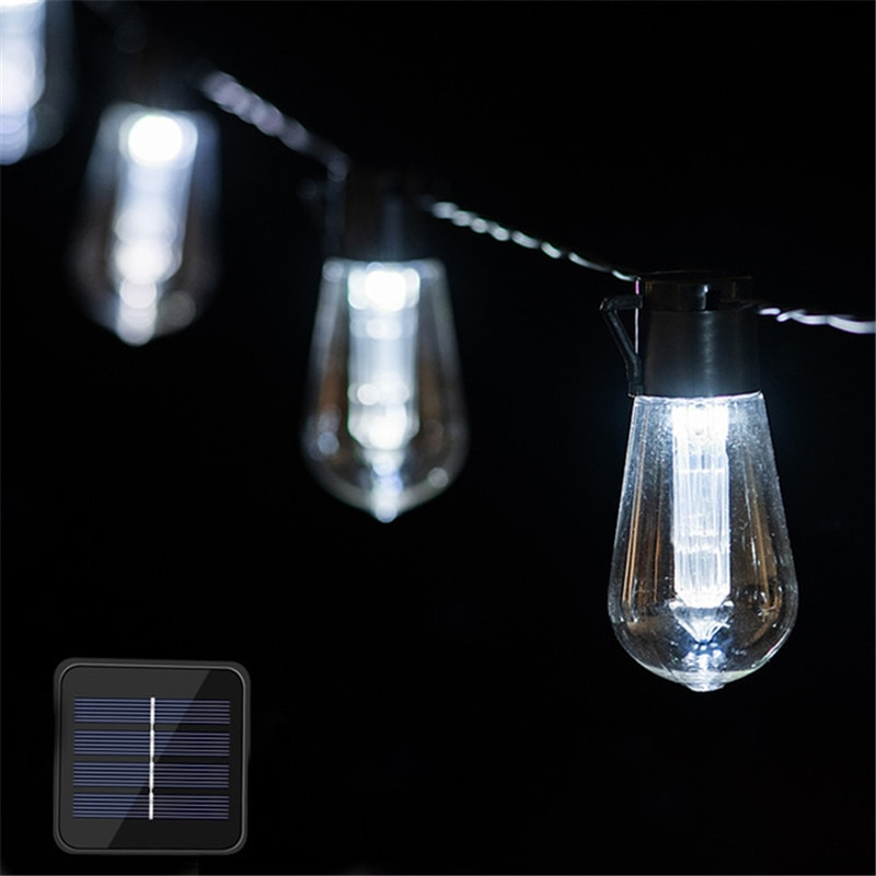 led commercial string 2w backyard outdoor street lighting lights holiday bulb grade string edison garden 10pcs with patio 10m LED Solar String Lights Outdoor Decoration Light Bulb IP65,Waterproof Patio Lamp Holiday Garland for Vegetable Garden Furniture