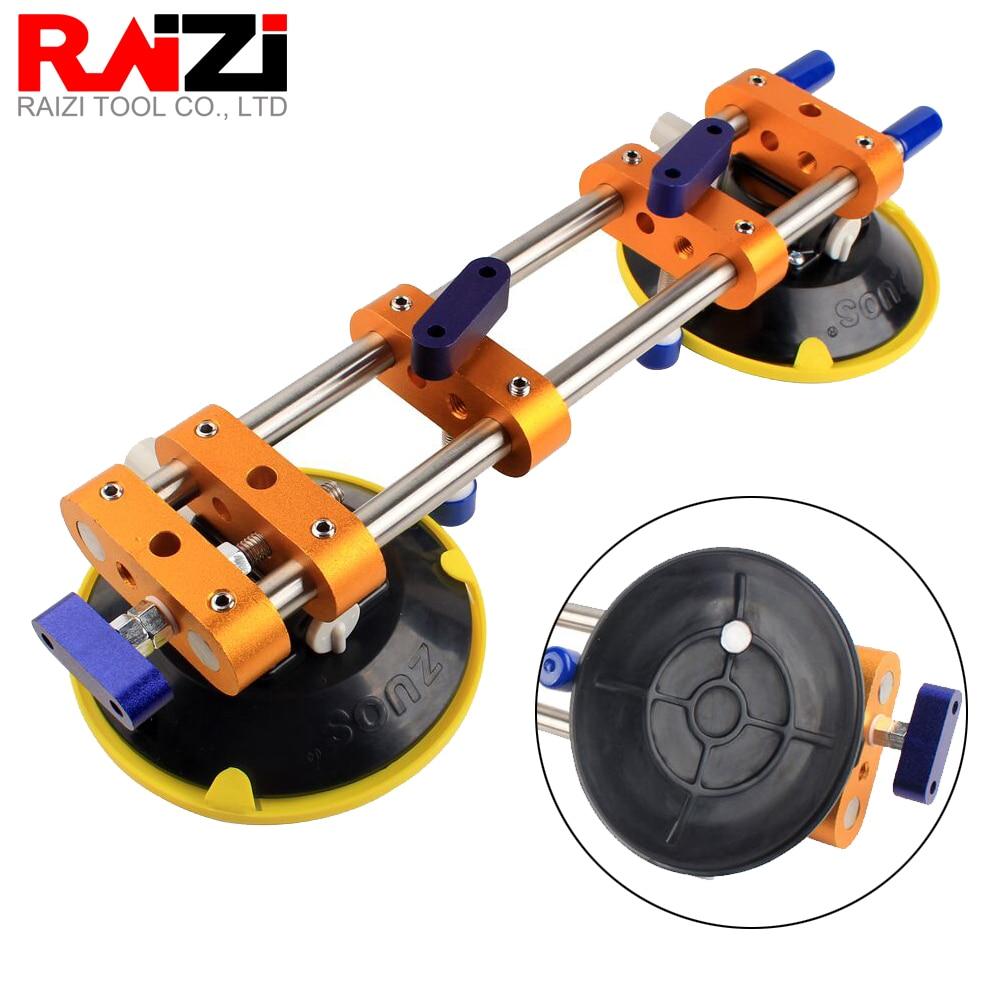 Купить с кэшбэком Raizi 2 Pcs Stone Seam Setter for Joining Leveling Granite Countertop Seamless Installation Tools With 6 inch vacuum suction cup