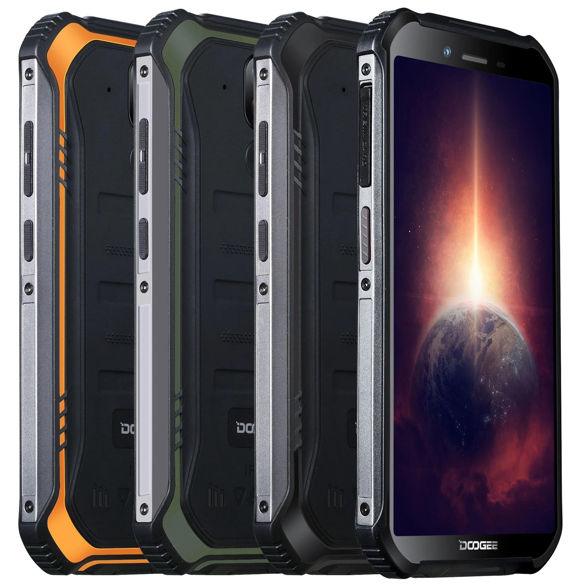 DOOGEE S40 Pro глобальная версия 5,45 дюймов IP68/IP69K Водонепроницаемая NFC Android 10,0 4650mAh 13MP двойная задняя камера 4 Гб 64 Гб Helio A25