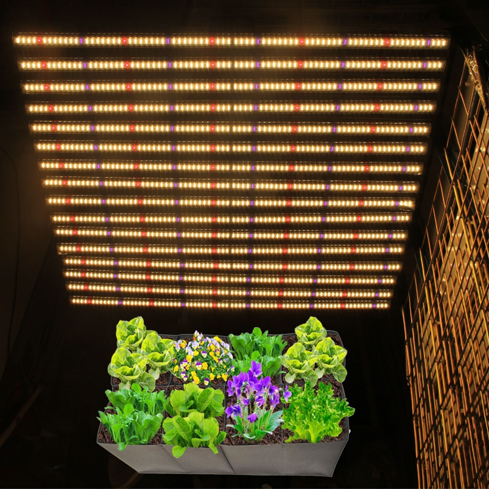 samsung lm301b Full spectrum plant led grow light 16Bars 1280w vertical growing Hydroponics system for indoor plant