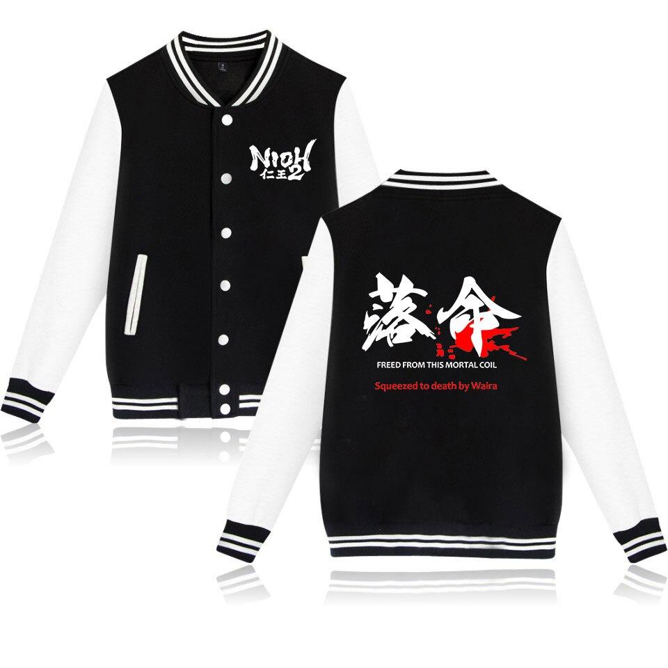 Frdun Tommy 2020 New Game NIOH Second series NIOH 2 Print Baseball Sweatshirt Casual Baseball Jacket Men/Women Clothes