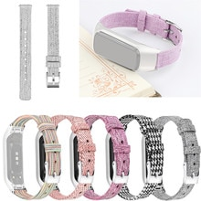 GEMIXI حزام ساعة اليد قماش استبدال حزام ساعة اليد + الإطار المعدني لسامسونج غالاكسي صالح-E R375 حزام ساعة اليد للساعات 19Sep26