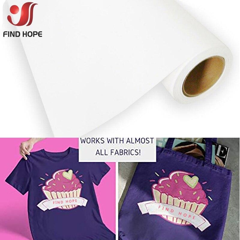Vinilo blanco eco-solvente imprimible Transferencia de Calor plancha en película de vinilo para todo Color camiseta abrigos bolsa hoja de tela TPU 50*30/100cm