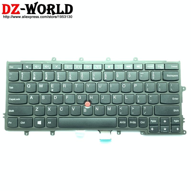 لوحة مفاتيح ليتوانية جديدة أصلية لجهاز Lenovo Thinkpad X230S X240 X240S X250 X260 كمبيوتر محمول Teclado 04X6387 04X6385