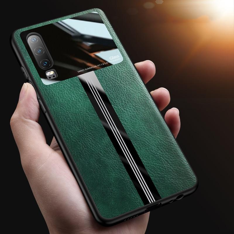 Funda de lujo para teléfono con espejo para Huawei P20 P30 Pro P40 Lite Nova 3 3i 5T Y9 Prime P Smart Plus 2019 funda dura con textura de cuero