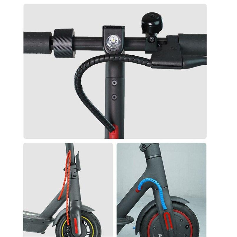 Gestão do cabo scooter elétrico scooter elétrico linha de freio proteção espiral capa xiaomi m365/m365 pro 20n7