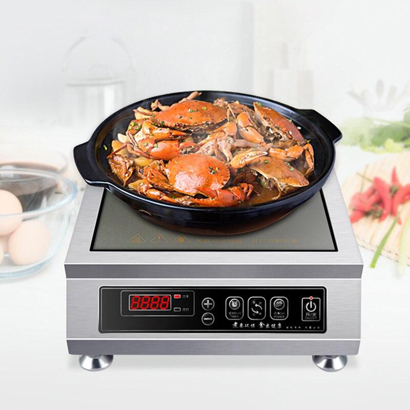 3500 Вт высокомощная индукционная плита, коммерческая индукционная плита, электрическая плита для керамической посуды, умная конвекционная ...