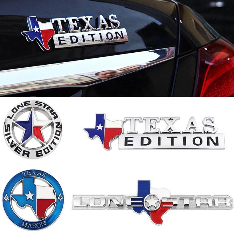 Emblème de Star Texas Edition en métal   Pour Jeep Grand Cherokee Renegade Patriot boussole Wrangler Liberty SUV, décoration de carrosserie de voiture