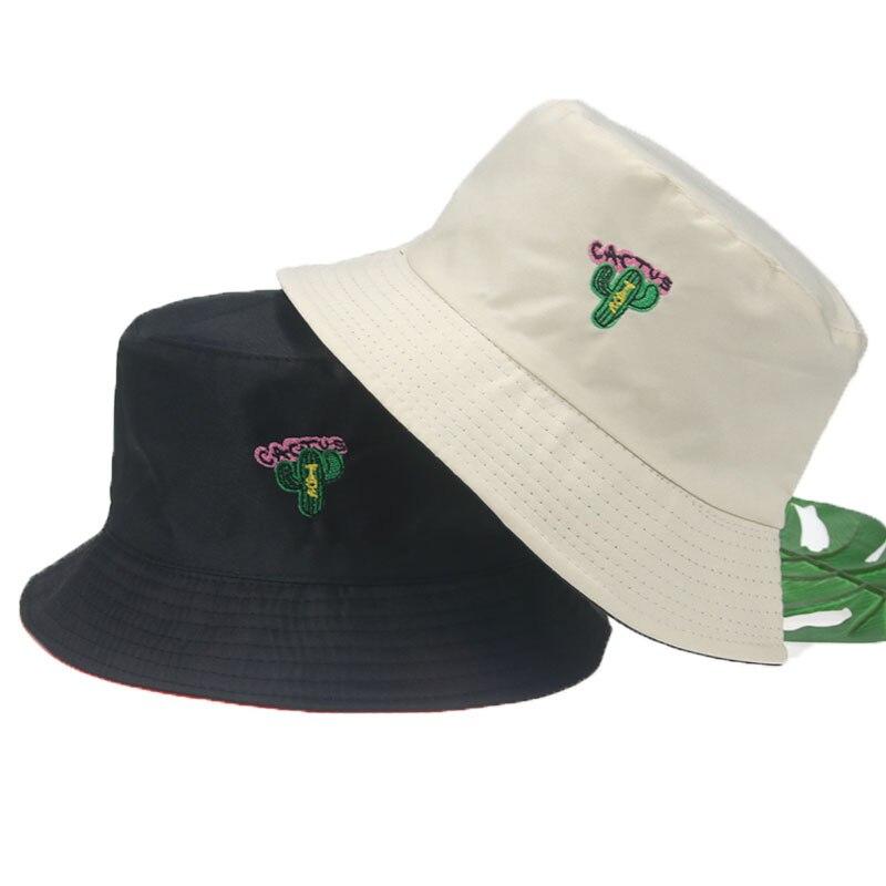 панама панама женская панама мужская шляпа женская Панама с вышивкой кактуса женская, двусторонняя шляпа, повседневный головной убор для п...
