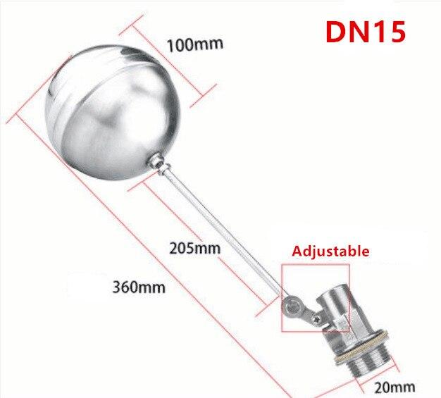 Válvula de bola flotante de acero inoxidable Válvula de control de nivel de agua fría y caliente tanque de agua DN15-DN100 de automatización completa
