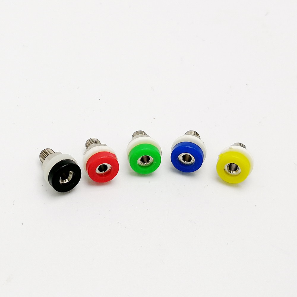 10 шт., 2 мм Клеммная панель с разъемом типа банан, красные и черные клеммы, тестовые приборы, 5 цветов