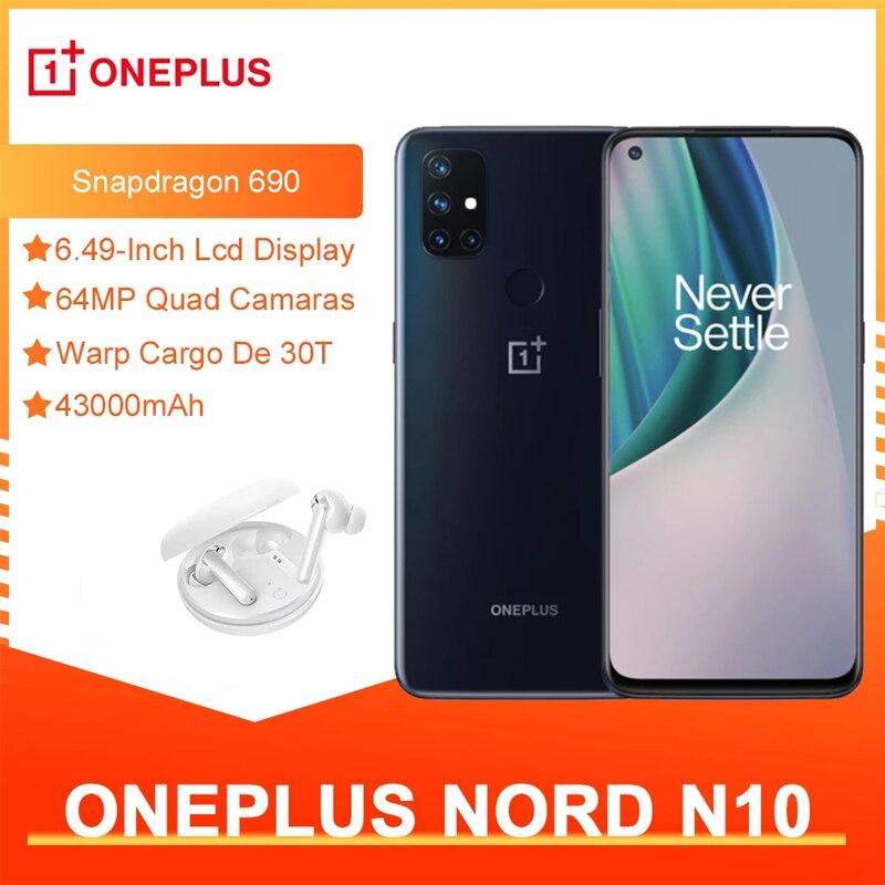 Чехол из ПВХ для OnePlus Nord N10 5G глобальная версия 6 ГБ 128 Snapdragon 690 смартфон 90 Гц Дисплей 64MP Quad камеры Warp 30T NFC