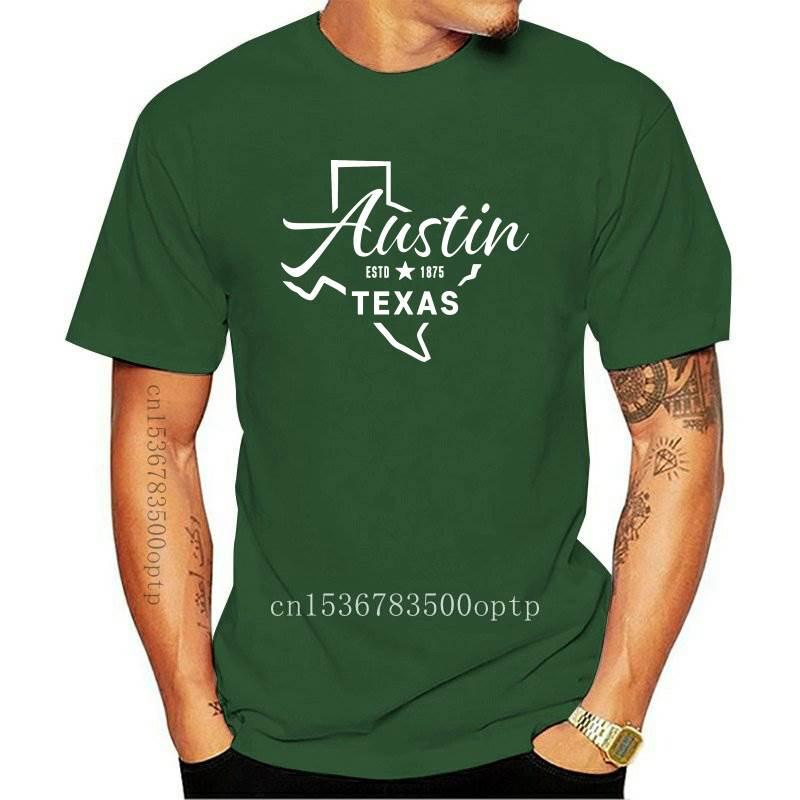 New Tops T Shirt Women austin texas Funny White Print Female Tshirt