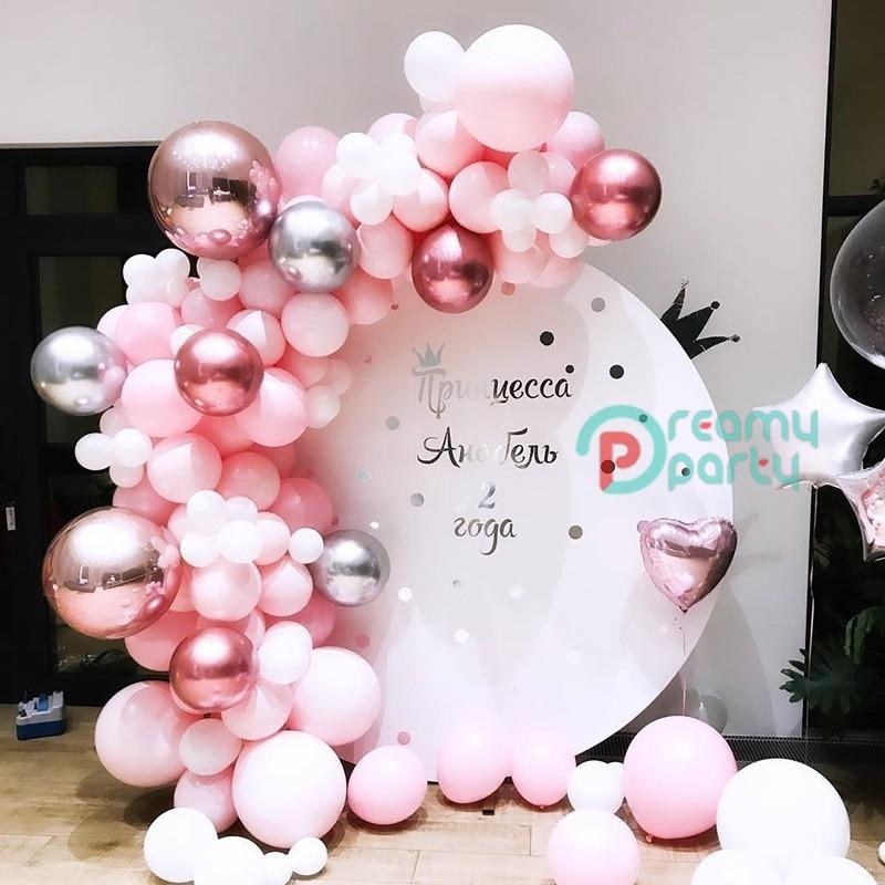 139 Uds., globo DIY, arco de macarrón, Pastel de plata rosa, globos de látex, guirnalda para Baby Shower, decoración de boda, fiesta de cumpleaños