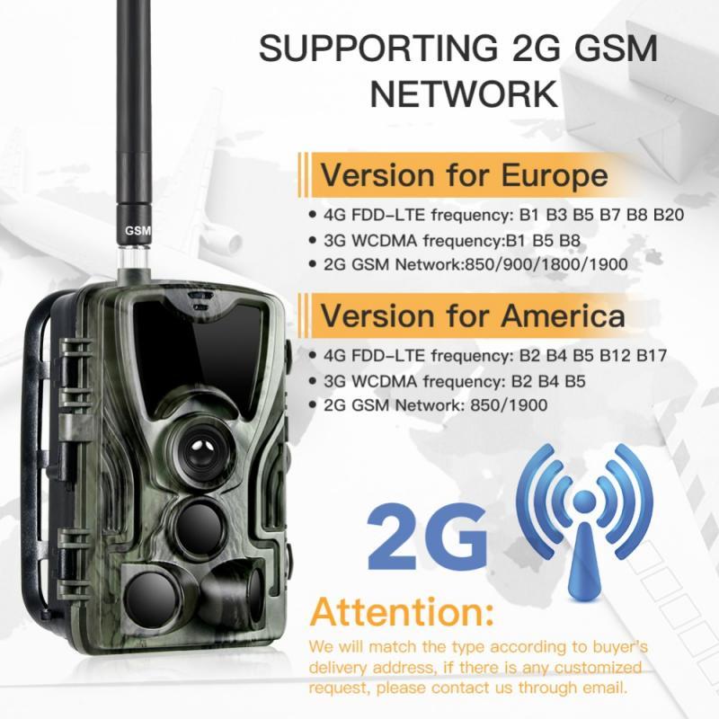 HC-801M caza Cámara 2G 16MP Cámara sendero SMS/MMS/SMTP foto trampas infrarrojos 0,3 gatillo trampa salvaje cámaras