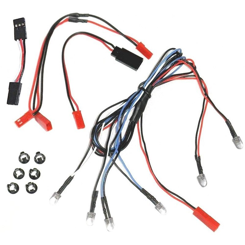 Juego de 6 luces LED para camión RC para la mayoría de 1/10 1/16 1/18 escala Traxxas Axial Losi RedCat