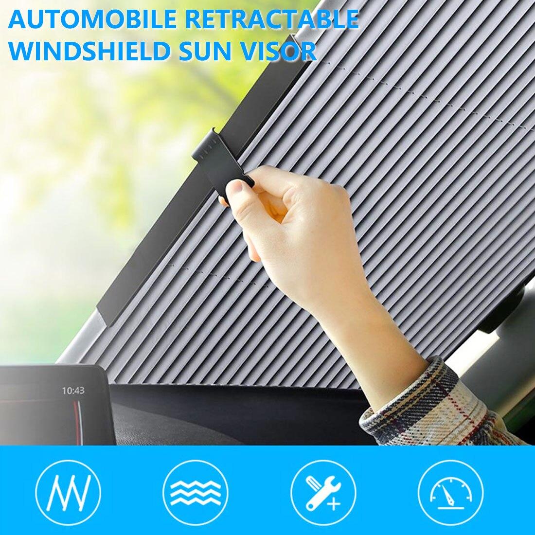 Parasol trasero para parabrisas delantero de coche de 46/65/70/80CM, parasol retráctil de protección UV para SUV y camión