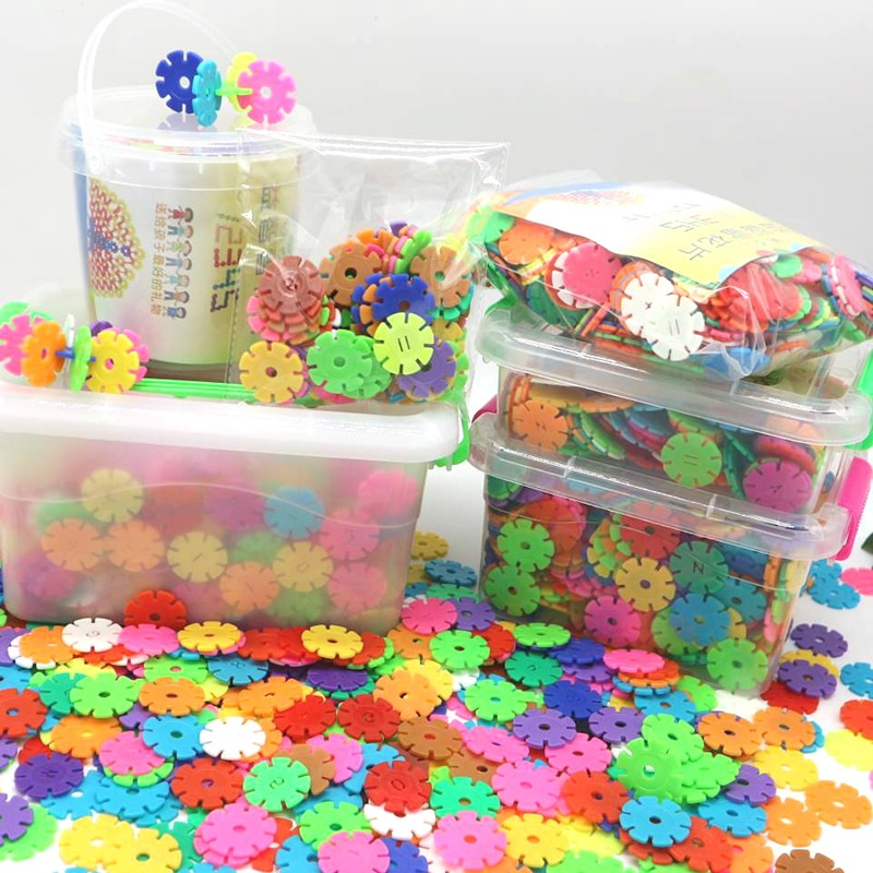 Snowflakes Thicken Large Childrens Building Blocks Plastic Intellectuality Girls Boys Insert Storage Boxed Toy