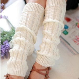 Winter Woman Thigh Leg Warmers Stockings Boot Cover For Girl Solid Color Boot Stocking Knee High Long Stockings