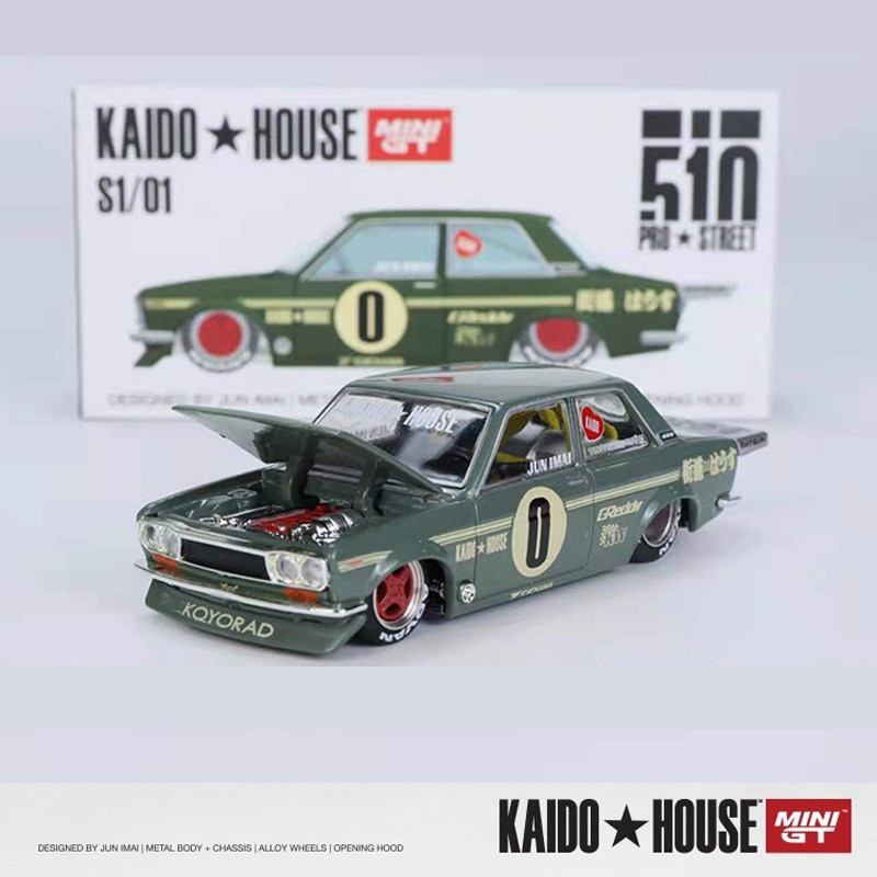 mini gt kaido casa 1 64 modelo de carro datsun 510 pro liga de rua fundido colecao