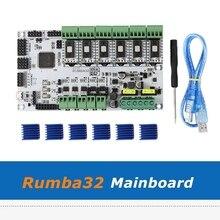 Diy Rumba32 Rumba 32 Control Board + 6 Pcs SD6128 Driver Module Compatibel Met Marlin 2.0 32Bit Voor 3D Printer onderdelen
