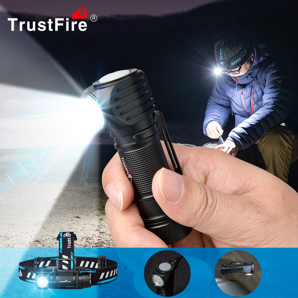 Trustfire MC18 1200 Lumens Led Flashlight Torch EDC & Outdoor Lighting Torch Magnetic Rechargeable 1