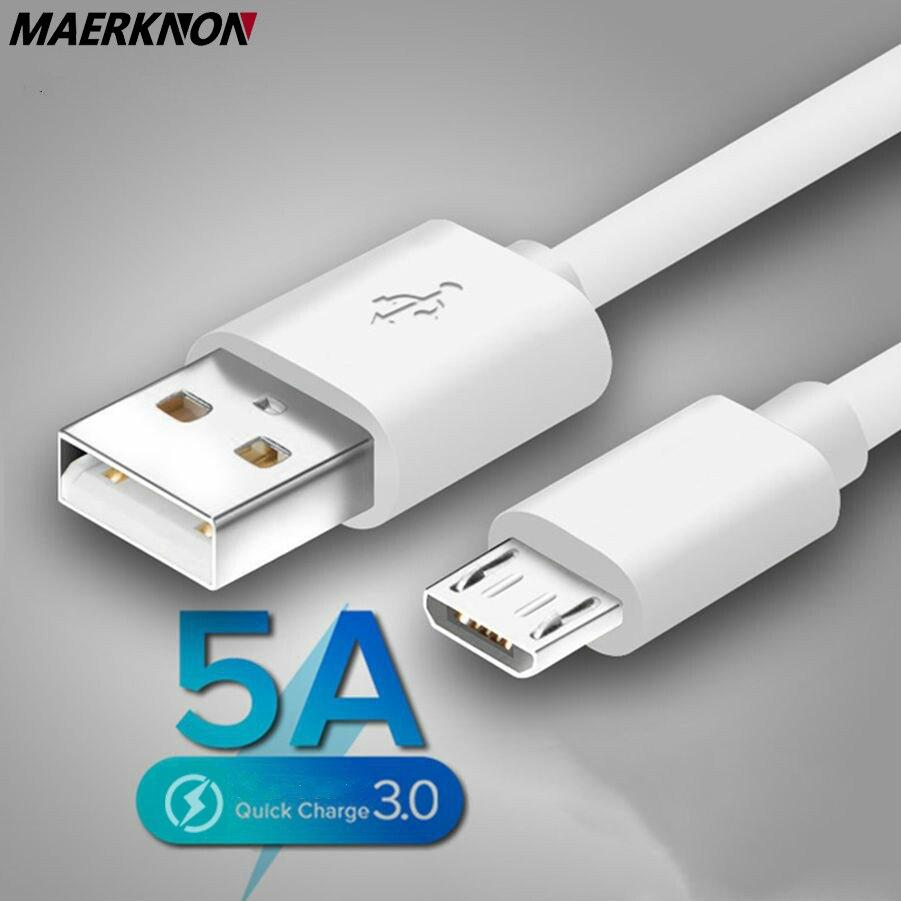 Cable Micro USB 5A de carga rápida para Samsung S7, Huawei, Xiaomi...