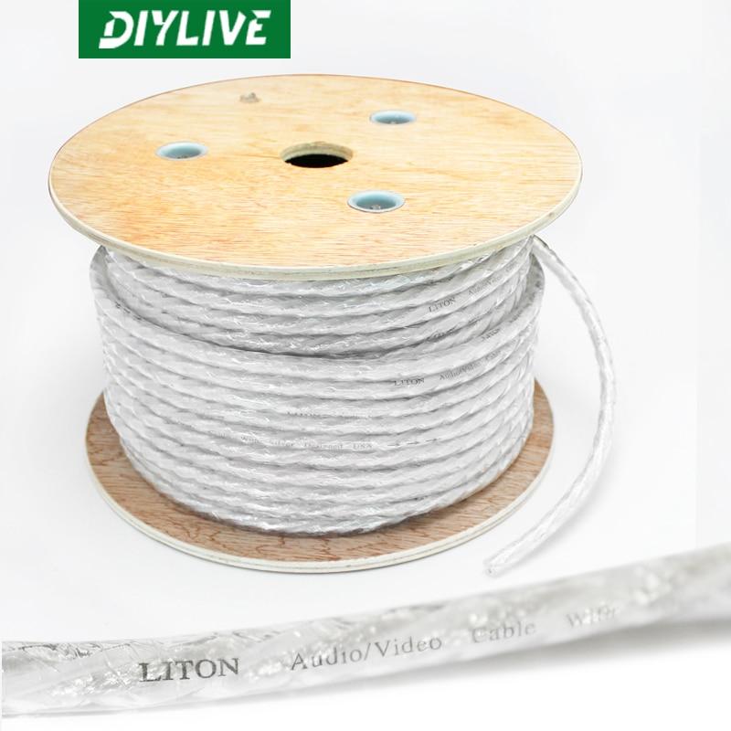 DIYLIVE-cable de señal de audio blindado dual, 20 m, Leadon/Liton, 2 núcleos,...
