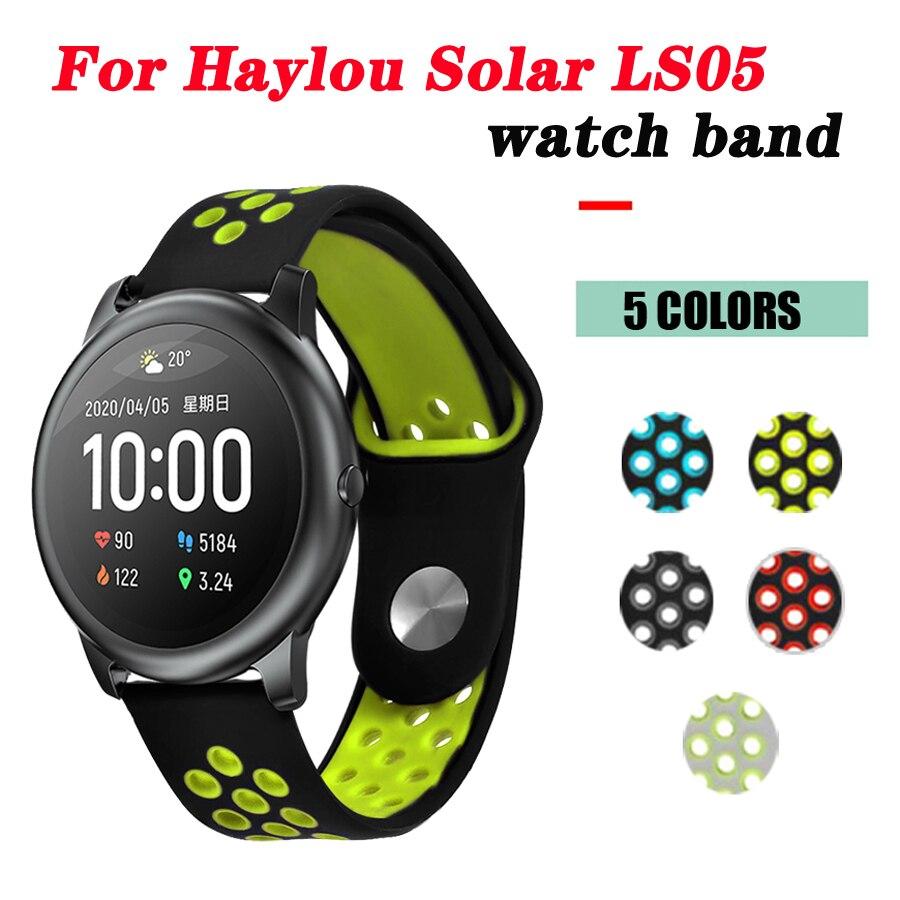Pulseira para haylou ls05 solar pulseira de silicone esporte solar para haylou ls05 relógio inteligente substituição banda acessórios