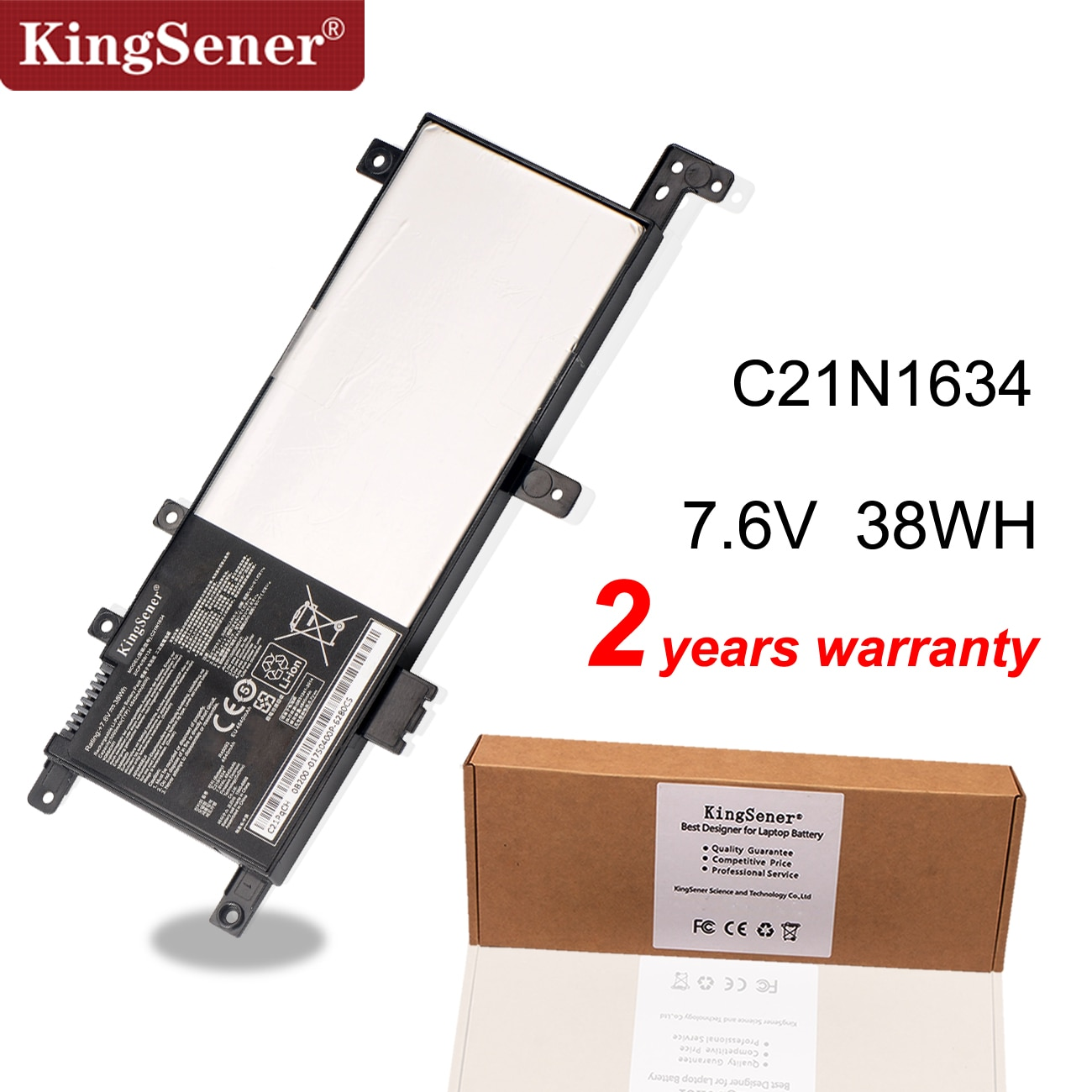 Kingsener C21N1634 بطارية لابتوب أسوس Vivobook R542UR R542UR-GQ378T FL5900L FL8000L X542U A580U X580U X580B V587U