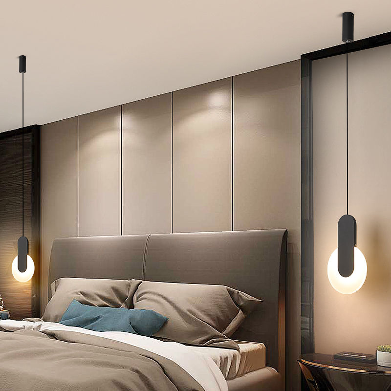 LED أباجورة غرفة نوم صغيرة الثريا مطعم مصباح led مصباح ديكور المنزل الحديث إضاءة داخلية