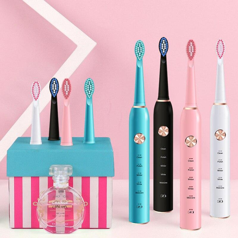 Escova de Dentes elétrica Oral B do Sonic XM-801 Temporizador Escova À Prova D Água Recarregável Portátil com Caso Escova de Dente Limpo Sensível