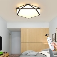 Modern Hexagon Led Ceiling Light Lamp Nordic Decoration Home for Bedroom Corridor Loft Dining Room Black White 110V 220V