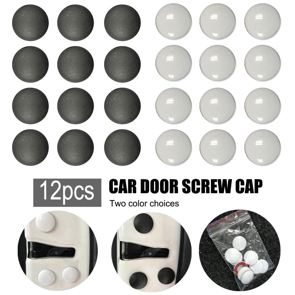 GISAEV 12 шт. Универсальный высококачественный пластик ABS Автомобильный Замок для межкомнатной двери защитная крышка винта Крышка для обшивки ...
